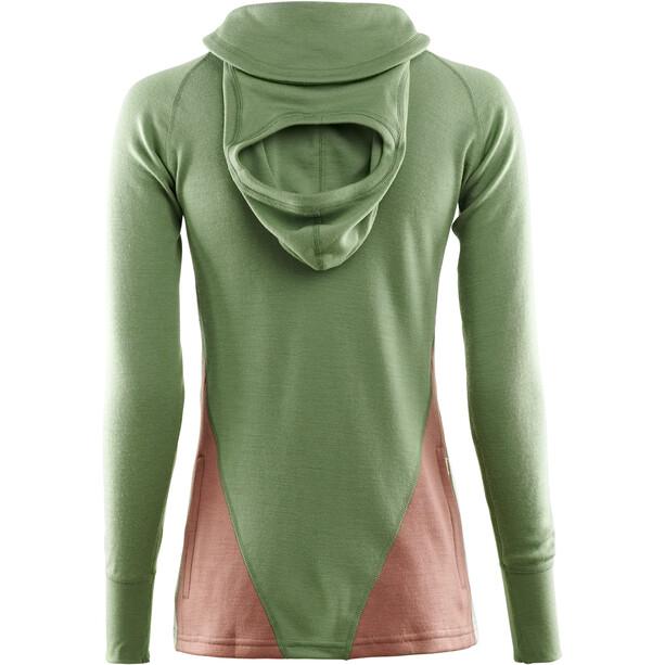 Aclima WarmWool Kapuzensweater Damen dill/cognac/nature