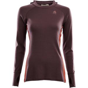 Aclima WarmWool Kapuzensweater Damen rot/orange rot/orange
