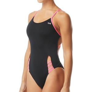 TYR Solid Tetrafit Swimsuit Women svart svart