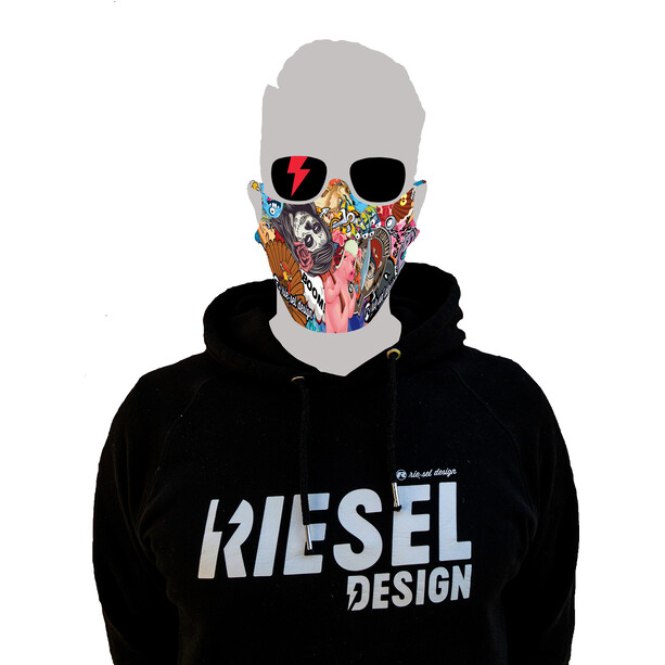 Riesel Design Face Mask stickerbomb