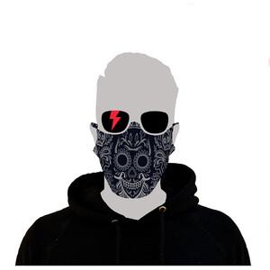Riesel Design Face Mask los muertos navy blue los muertos navy blue