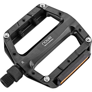 NOW8 E-Touring Flat Pedals 4 Pins mit Reflektor black black