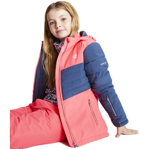 Dare 2b Freeze Up Waterproof Insulated Jacket Kids, neon pink/denim dark neon pink/denim dark