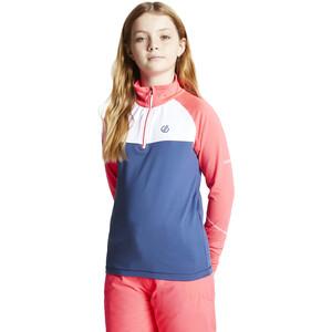 Dare 2b Formate Core Stretch Langarmshirt Kinder neon pink/dark denim neon pink/dark denim