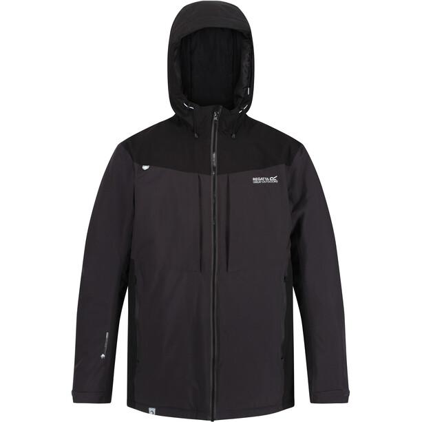 Regatta Highton Stretch Wasserdichter Isolierter Mantel Herren grau/schwarz