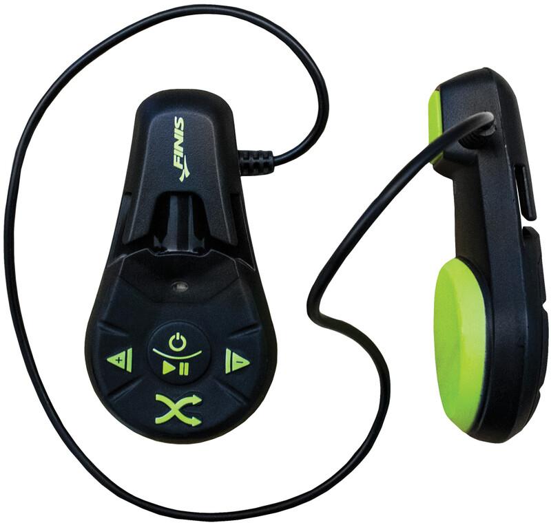 FINIS Duo MP3-spiller under vann black/acid green  2020 Trening og Svømmetilbehør