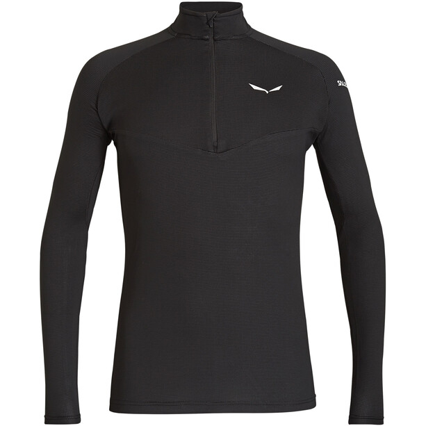 SALEWA *Sennes Dry Half Zip Langarm T-Shirt Herren black out