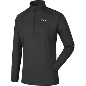 SALEWA *Sennes Dry Half Zip Langarm T-Shirt Herren black out black out
