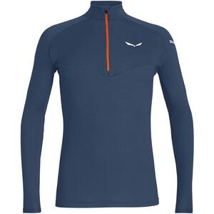 SALEWA *Sennes Dry Bluza z długim rękawem i zamkiem błyskawicznym Mężczyźni, niebieski niebieski