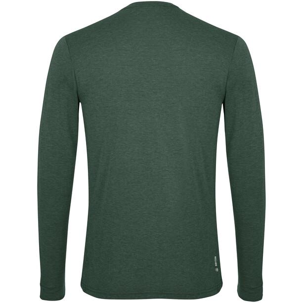 SALEWA Solidlogo Dry Langarm T-Shirt Herren deep forest melange