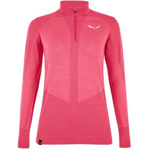 SALEWA Zebru Responsive Half Zip T-Shirt Damen virtual pink virtual pink