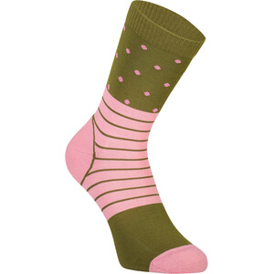 Mons Royale All Rounder Crew Socks Women pink/grön pink/grön
