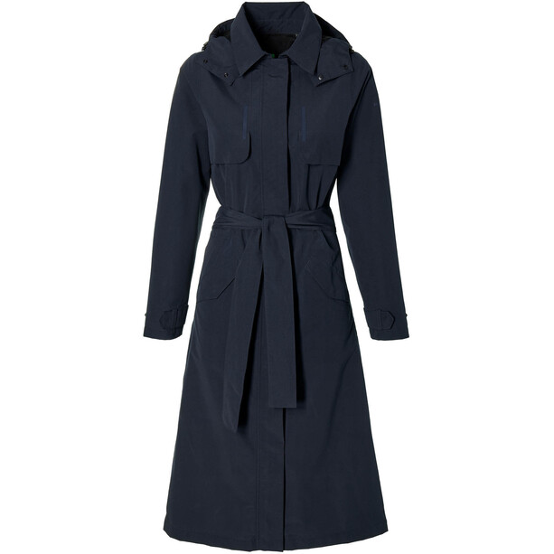 Basil Mosse Regen Trenchcoat Damen blau