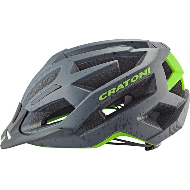Cratoni C-Flash MTB Helm grey/lime matte