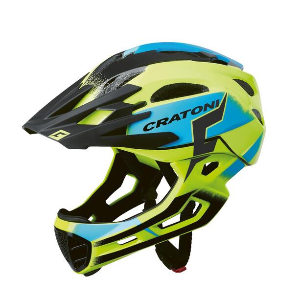 Cratoni C-Maniac Pro MTB Helmet yellow/blue gloss