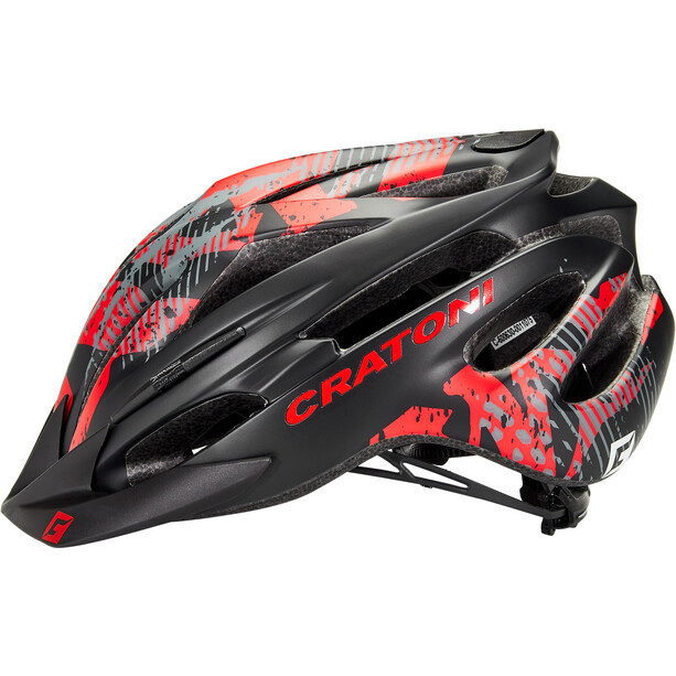 Cratoni Pacer MTB Helm black/red matte