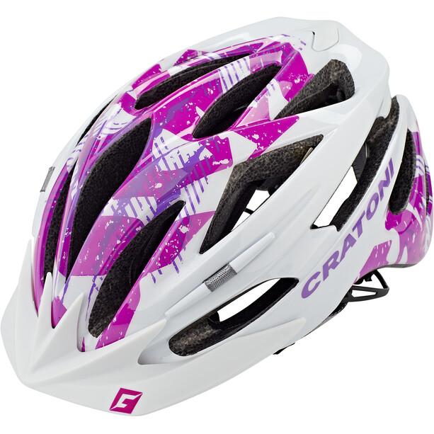Cratoni Pacer MTB Helm weiß/pink