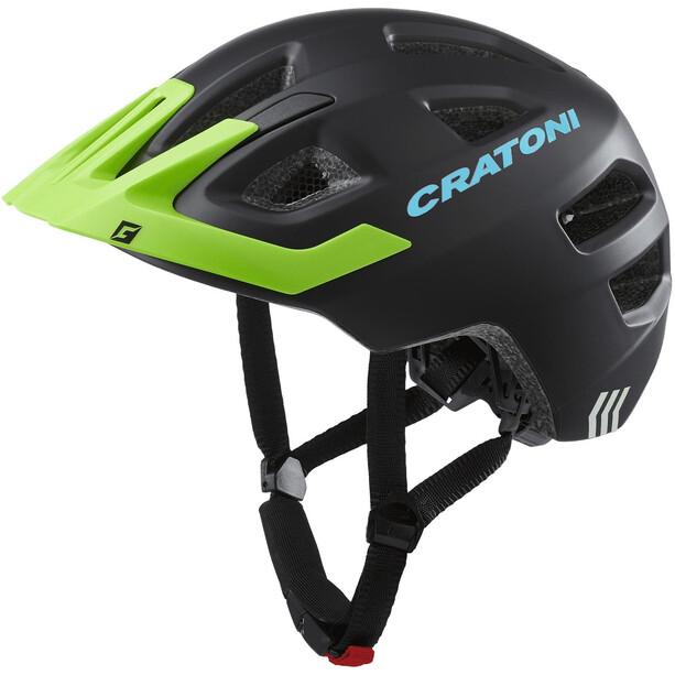 Cratoni Maxster Pro Helm Kinder black/lime matte