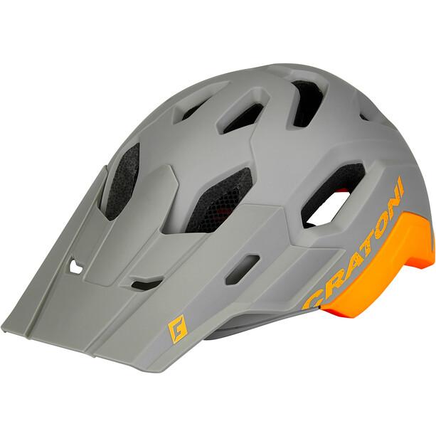 Cratoni C-Maniac 2.0 Trail Casque, gris/orange