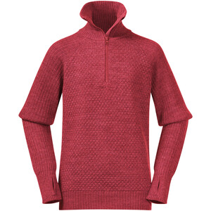 Bergans Ulriken Wool Jumper Youth, light dahlia red light dahlia red