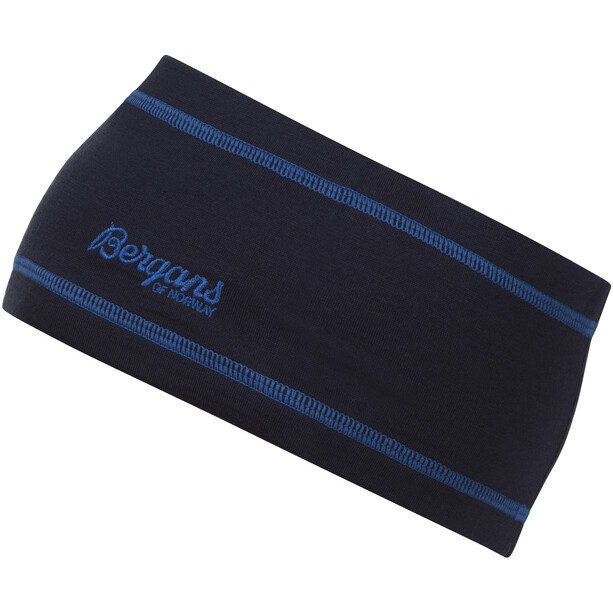 Bergans Woll-Stirnband dark navy/strong blue