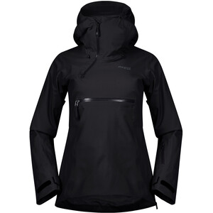 Bergans Stranda Eristetty Hybridianorakki Naiset, black/solid charcoal black/solid charcoal