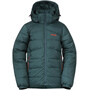 Bergans Røros Down Jacket Boys forest frost/br magma
