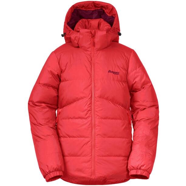 Bergans Røros Down Jacket Girls röd