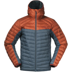 Bergans Røros Down Light Jacket with Hood Men forest frost/br magma forest frost/br magma