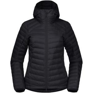 Bergans Røros dunlys jakke med hette Dame Svart Svart
