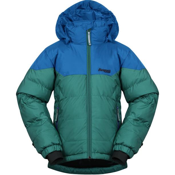 Bergans Ruffen Down Jacket Kids grön/blå