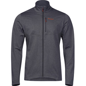 Bergans Fløyen Fleece Jacket Herre solid dark grey/lava solid dark grey/lava