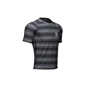 Compressport Performance Kurzarm T-Shirt black/stripes black/stripes