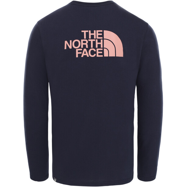 The North Face Easy Langarm T-Shirt Herren aviator navy/pink clay