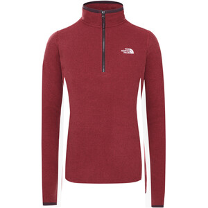 The North Face 100 Glacier 1/4 Zip Damen root brown/pomegranate stripe root brown/pomegranate stripe
