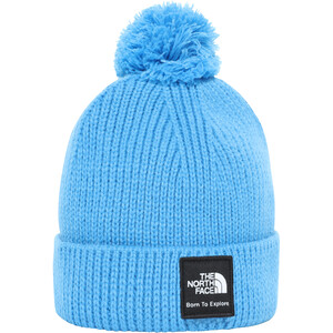 The North Face Littles Box Logo Pom Beanie Säugling clear lake blue clear lake blue