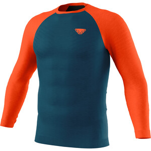 Dynafit Tour Light Merino Langarm T-Shirt Herren petrol/orange petrol/orange