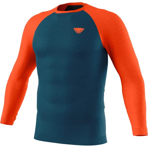 Dynafit Tour Light Merino Langarm T-Shirt Herren petrol/orange