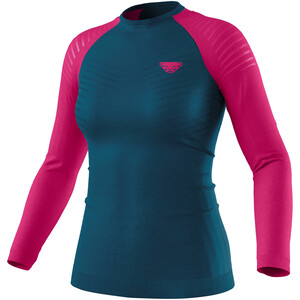 Dynafit Tour Light Merino T-Shirt À Manches Longues Femme, Bleu pétrole/rose Bleu pétrole/rose