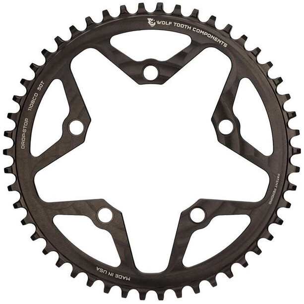 Wolf Tooth Cyclocross Flat Top Kettenblatt Ø110mm BCD schwarz