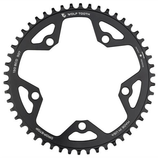 Wolf Tooth Cyclocross Kettenblatt Ø130mm BCD black