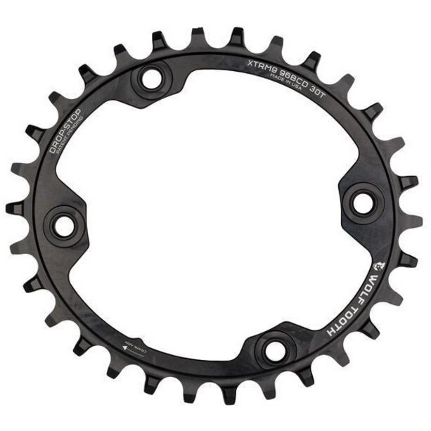 Wolf Tooth Elliptical Chainring Ø96mm BCD Shimano XTR M9000/M9020 black