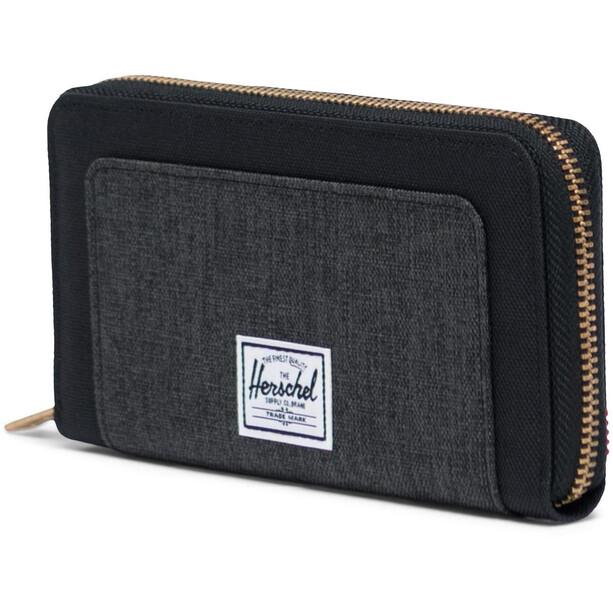 Herschel Thomas RFID Brieftasche black/black crosshatch
