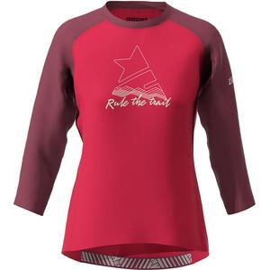 Zimtstern PureFlowz Koszulka z rękawem 3/4 Kobiety, czerwony czerwony