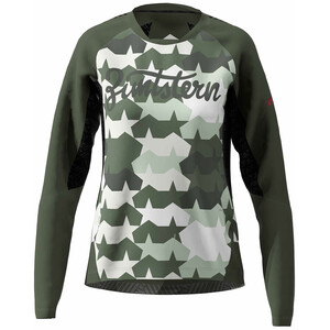 Zimtstern TechZonez LS-skjorte Dame oliven/Hvit oliven/Hvit