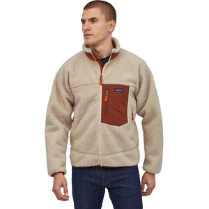 Patagonia Classic Retro-X Jacke Herren natural w/barn red natural w/barn red