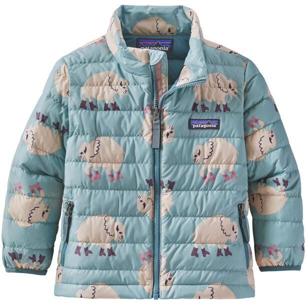 Patagonia Daunen Sweater Jacke Kinder blau/weiß