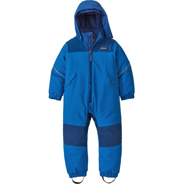 Patagonia Snow Pile Einteiler Kinder blau
