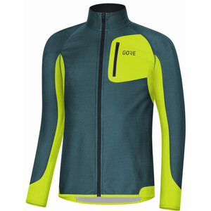 GORE WEAR R3 Partial Gore Windstopper Shirt Herren dark nordic/citrus green dark nordic/citrus green