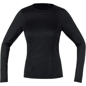 GORE WEAR M Baselayer Shirt Thermique À Manches Longues Femme, noir noir